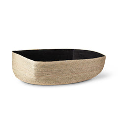 Large Natural + Black Tray Basket