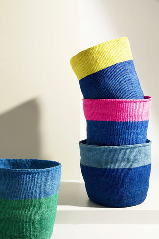 Blue Colour Block Basket