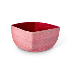 Small Pink + Red Square Basket