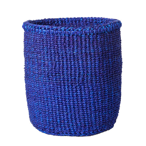 Solid blue basket - Small