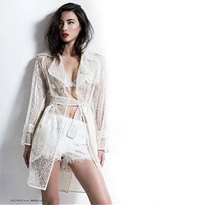 Bello Magazine Gold Hawk Lace Shorts