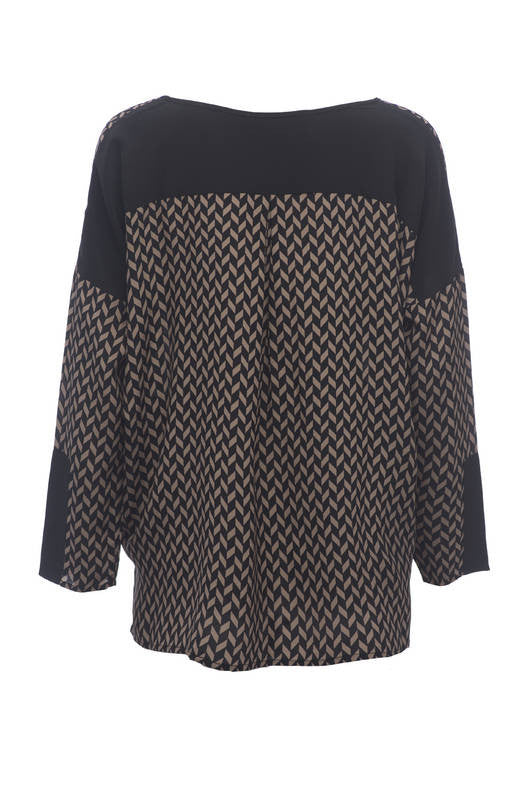 Herringbone Long Sleeve Top
