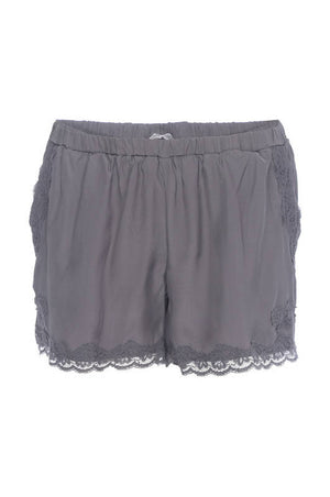 The Classic Lace Modern Silk Shorts in excalibur.