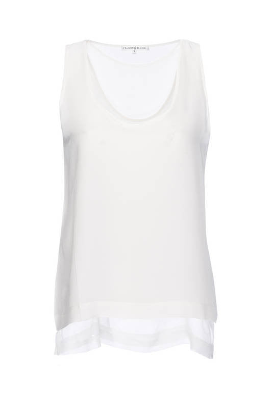 Double Layer Silk Tank Top