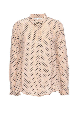 Polka Dot Silk Top