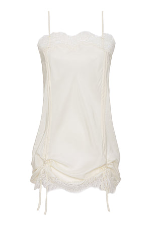 Rouched Coco Lace Silk Tunic