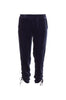 Velvet Ruched Pull-On Pants