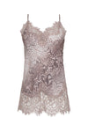 The Python Coco Silk Print Lace Cami in muted rose python.