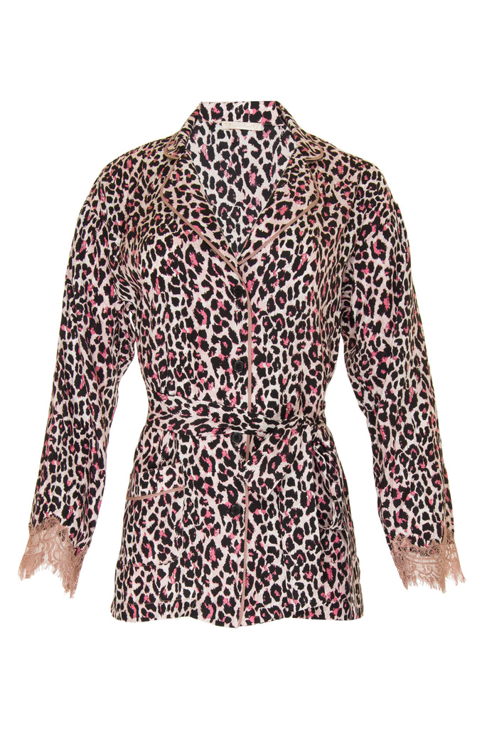Animal Print PJ Silk Shirt