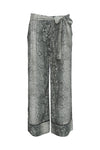 The Python Silk Print Wide Leg Pants in grey python.