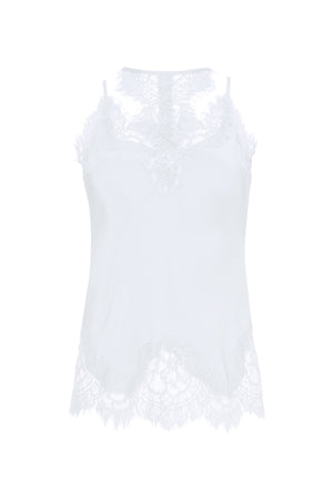 The Zoe Coco Camisole in bright white.