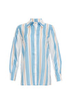 The Bold Stripe Shirt in baby blue.