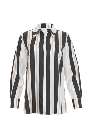 Black Bold Stripe Shirt