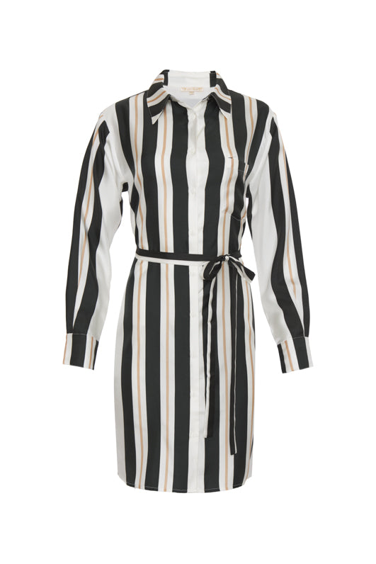 Bold Stripe Sleeve Dress