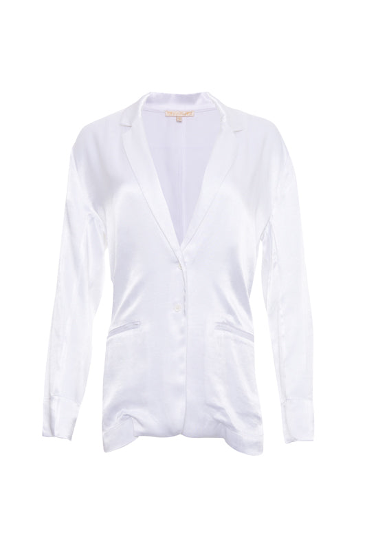 The Hayley Blazer in bright white.