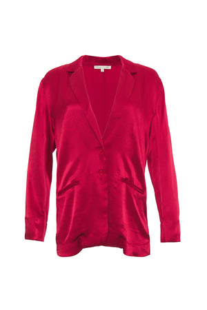The Hayley Blazer in fiery red.