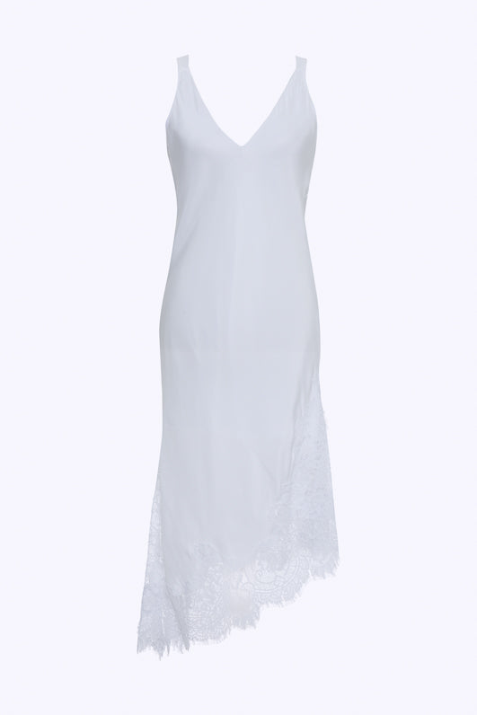 The Modern Coco Dress in bright white.