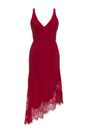 The Modern Coco Dress in fiery red.