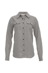The Tencel Western Shirt in steeple grey.