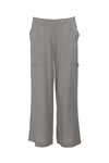 The Tencel Cargo Wide Leg Pant in steeple grey.