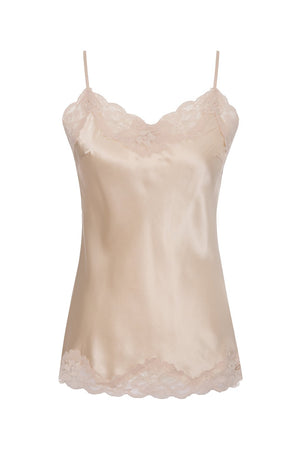 Floral Lace Silk Cami