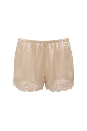 Floral Lace Silk Shorts