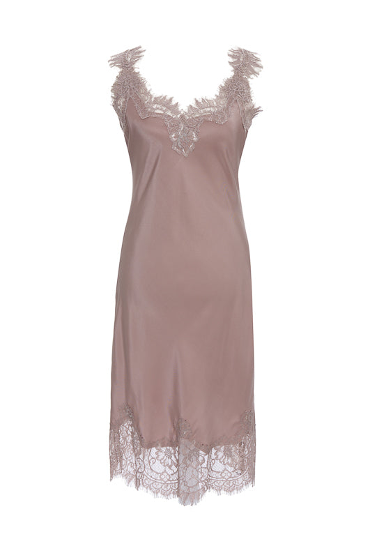 The Megan Coco Dress in muted rose.