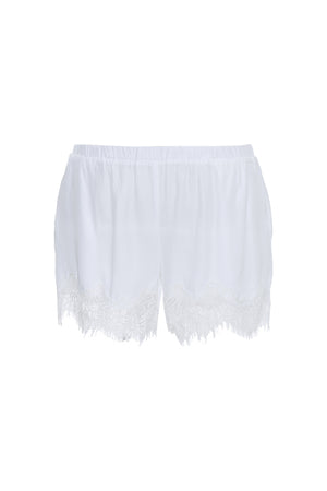 The Coco Lace Short in white.