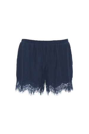 The Coco Lace Short in navy.