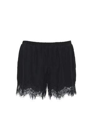 The Coco Lace Short in black.