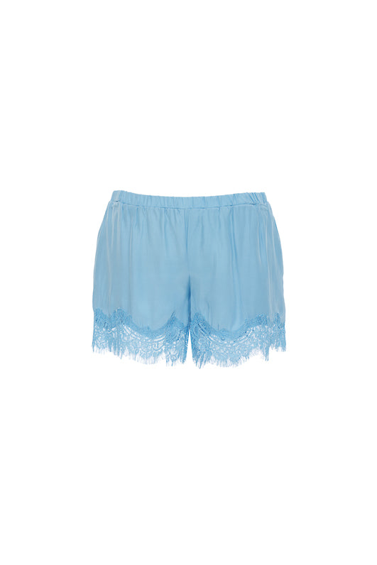 The Coco Lace Short in baby blue.