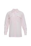 The Anne Marie Shirt in ballerina pink/off white.