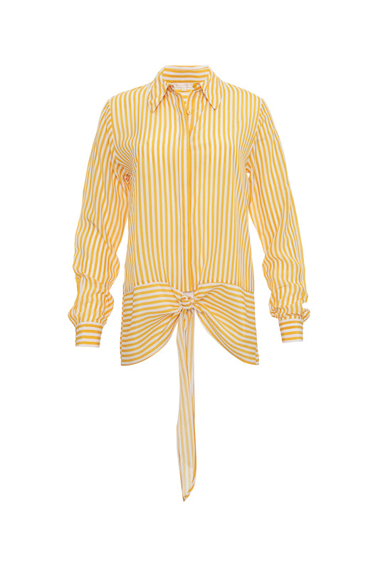 The Mini Stripe Shirt in gold.