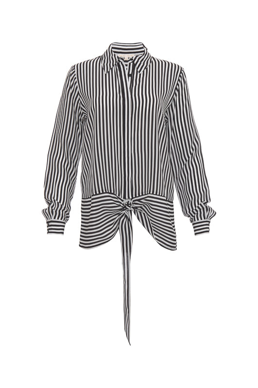 The Mini Stripe Shirt in black.