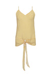 The Mini Stripe Camisole in gold.
