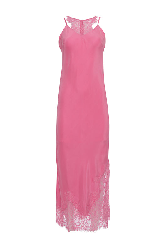 The Zoe Coco Long Dress in rose.
