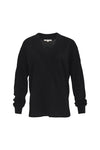 The Stretch Long Sleeve Tee in black.