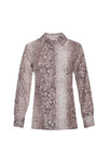 The Python Shirt in muted rose python.