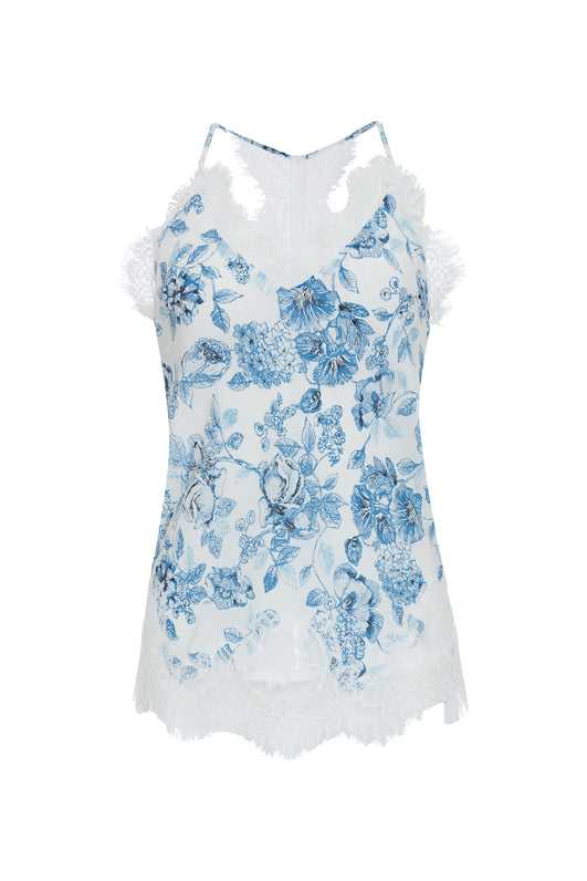 e86637c78ea9c The Provence Camisole in navy provence toile.