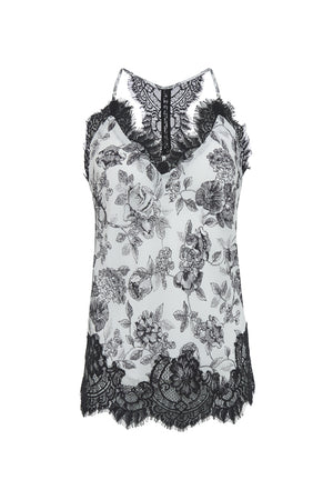 The Provence Camisole in black provence toile.