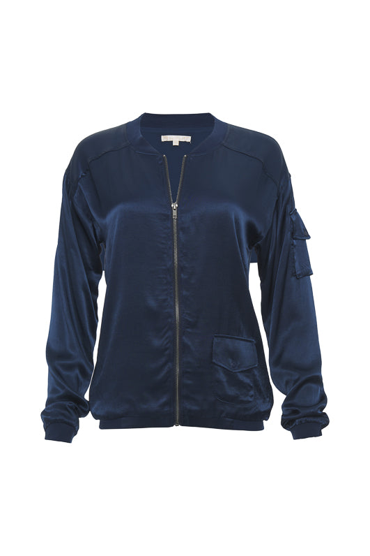 The Hayley Bomber Jacket in navy.