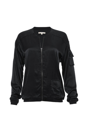 The Hayley Bomber Jacket in black.