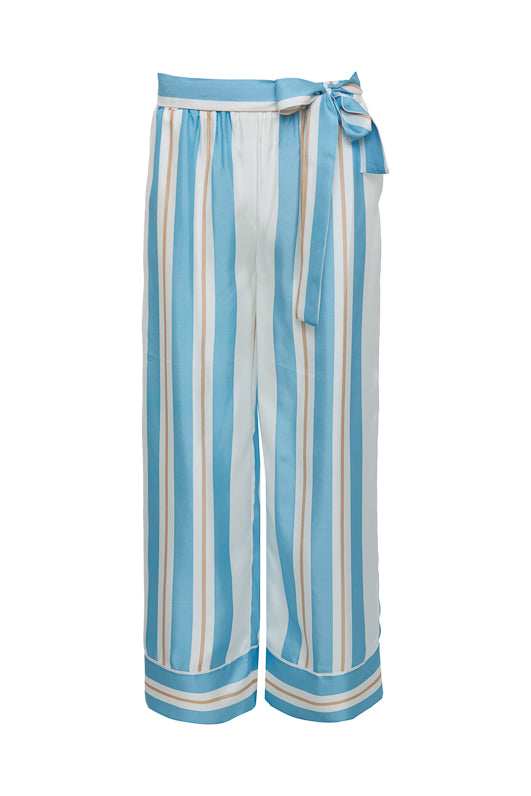 The Bold Stripe Pant in baby blue.