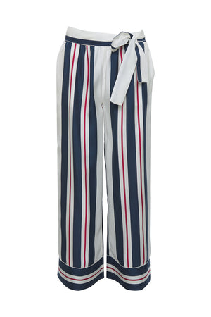 The Bold Stripe Pant in navy.