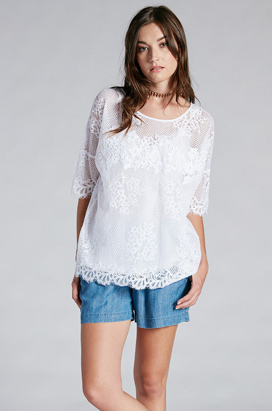 Bianca Lace Wedge Top