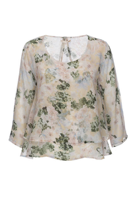 Monet Floral Long Sleeve Top