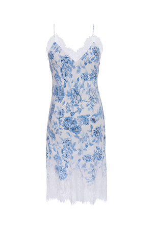 The Provence Slip Dress in navy provence toile.