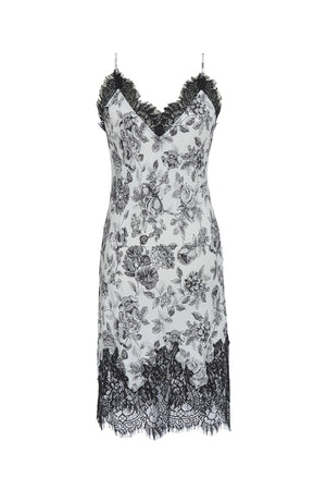 The Provence Slip Dress in black provence toile.