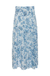 The Provence Boho Skirt in navy provence toile.