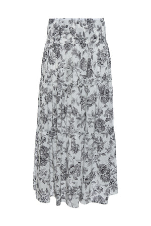 The Provence Boho Skirt in black provence toile.